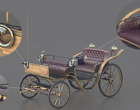 Carriage 3D asset game-ready PBR
