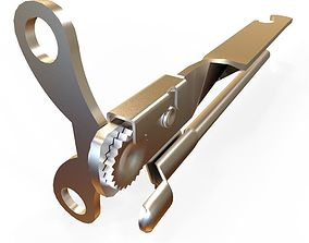 tin opener 3D model low-poly