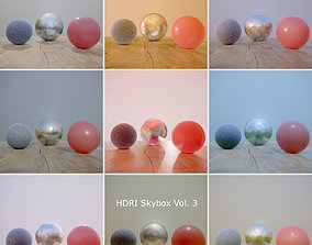 3D model low-poly HDRi Vol 3 Skybox Collection