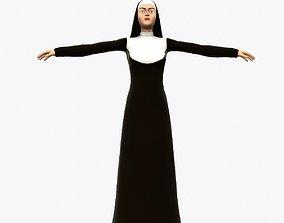 3D model animated Nun Maiden