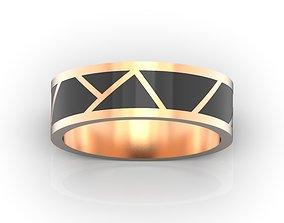 Mens wedding band Ring for men Enamel ring 3D print model