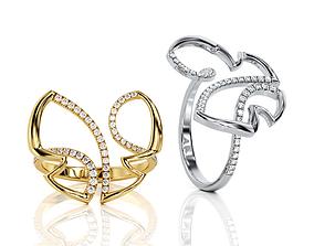 3D print model Butterfly ring R 0014