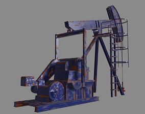 3D model animated Oil Pump
