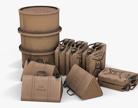 3D model WW2 Liquid Storage Assets 01