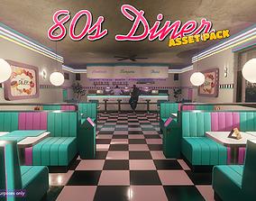 Low-Poly 80s Diner Pack 3D model