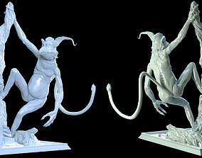 3D print model Kowakee the Monkey-Lizard Statue