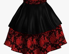 Skirt 3D asset game-ready