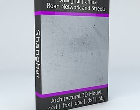 Shanghai Road Network and Streets 3D model