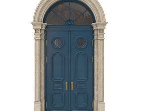 3D Entrance classic door 22