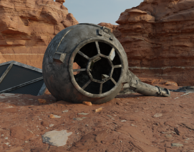 3D model Tie Fighter Wreckage