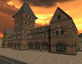 Urban Landscape - Firestation 3D asset