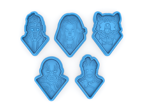 Guardians of the Galaxy cookie cutters 3D print model