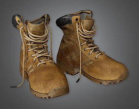 3D model Military Shoes Boots - MLT - PBR Game Ready