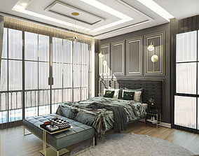 MASTER BEDROOM 3D interior