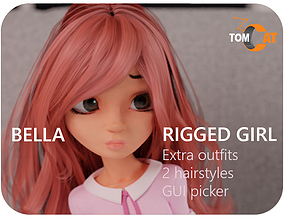 3D Bella Rigged Girl Character