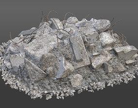 3D Realistic Demolition Element - Concrete Pile