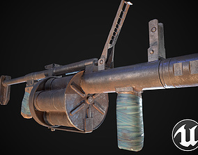 3D asset game-ready Grenade launcher