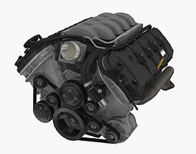 Ford Coyote Aluminator SC engine 3D asset