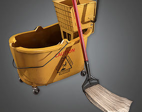 Mop And Bucket HPL - PBR Game Ready 3D asset