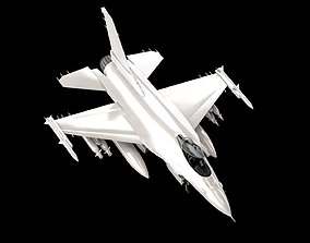 F-16 Fighting Falcon - Easy Custmization - 3D Model