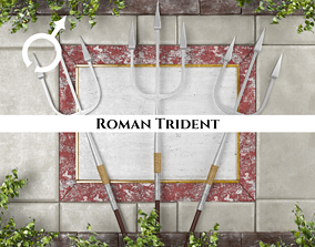 Ancient Roman Trident 3D asset