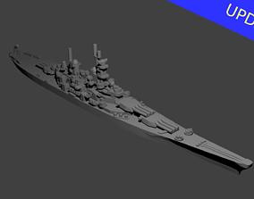 3D print model US Iowa Class Battleship