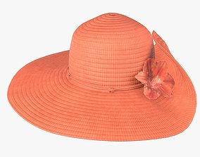 Floppy summer woman hat 02 3D