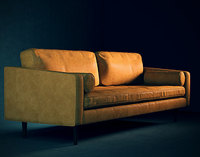 Leather Mid-Century Modern Sofa 3D model