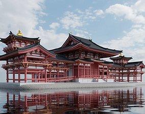 3D Byodo-in temple Phoenix Hall