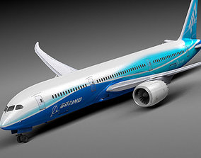 3D model Boeing 787 Dreamliner airliner