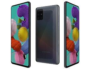 Samsung Galaxy A51 Prism Crush Black 3D