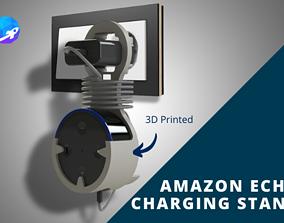 Amazon Echo Dot wall mount 3D printable model charging