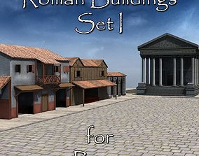 3D model Roman Buildings Set I for Poser