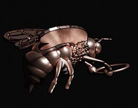 bee pendant 3D printable model jewelry