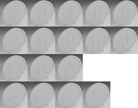 Cards coins 3D printable model