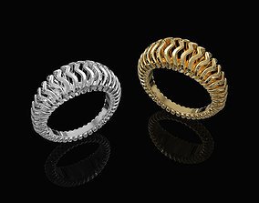 3D print model Waves Ring with thick walls waves