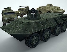 Military Vehicles Low Poly PACK 3D asset