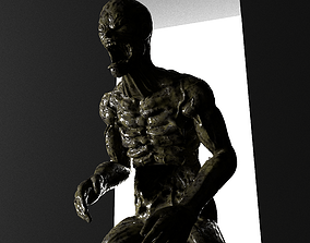 Zombie Character 2 Full Body Rigged 3D model