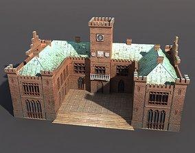 3D asset Castle City hall