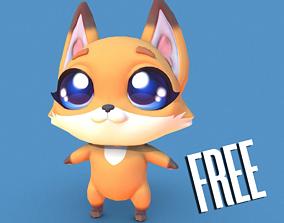 3D asset PBR Fox Character