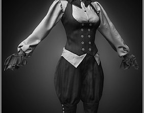 Realistic Steampunk Costume 3D