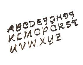 Alphabet 001 3D asset