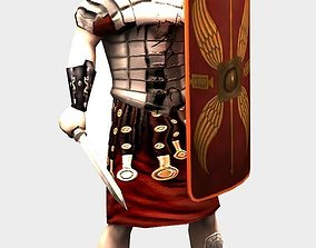 Roman Soldier 3D asset