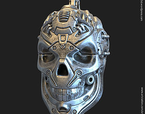 3D printable model Robotic skull vol13 pendant jewelry
