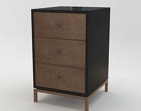 3D Black and Key - Wilson Bedside Table