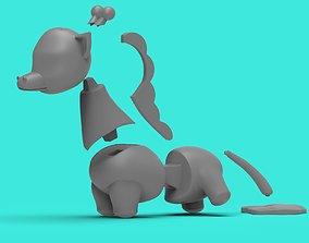 3D print model Giraffe Peeing
