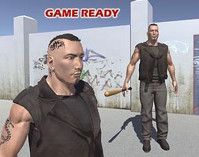 Tough guy 3D asset