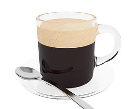 3D Coffee glass mug
