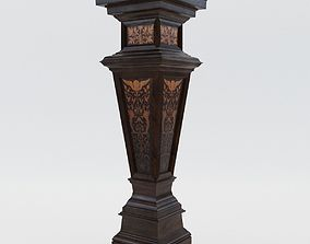 antique-decoration Column - Germany - Karlsruhe 1880 3D