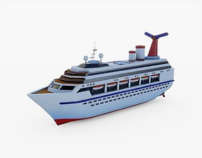 Cruise Ship Miniature 3D asset
